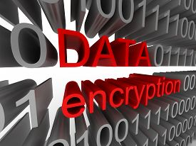 Data encryption in the form of binary code isolated on white background. High quality 3d render.