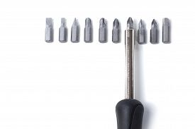 Interchangeable Head Screwdriver With Bits