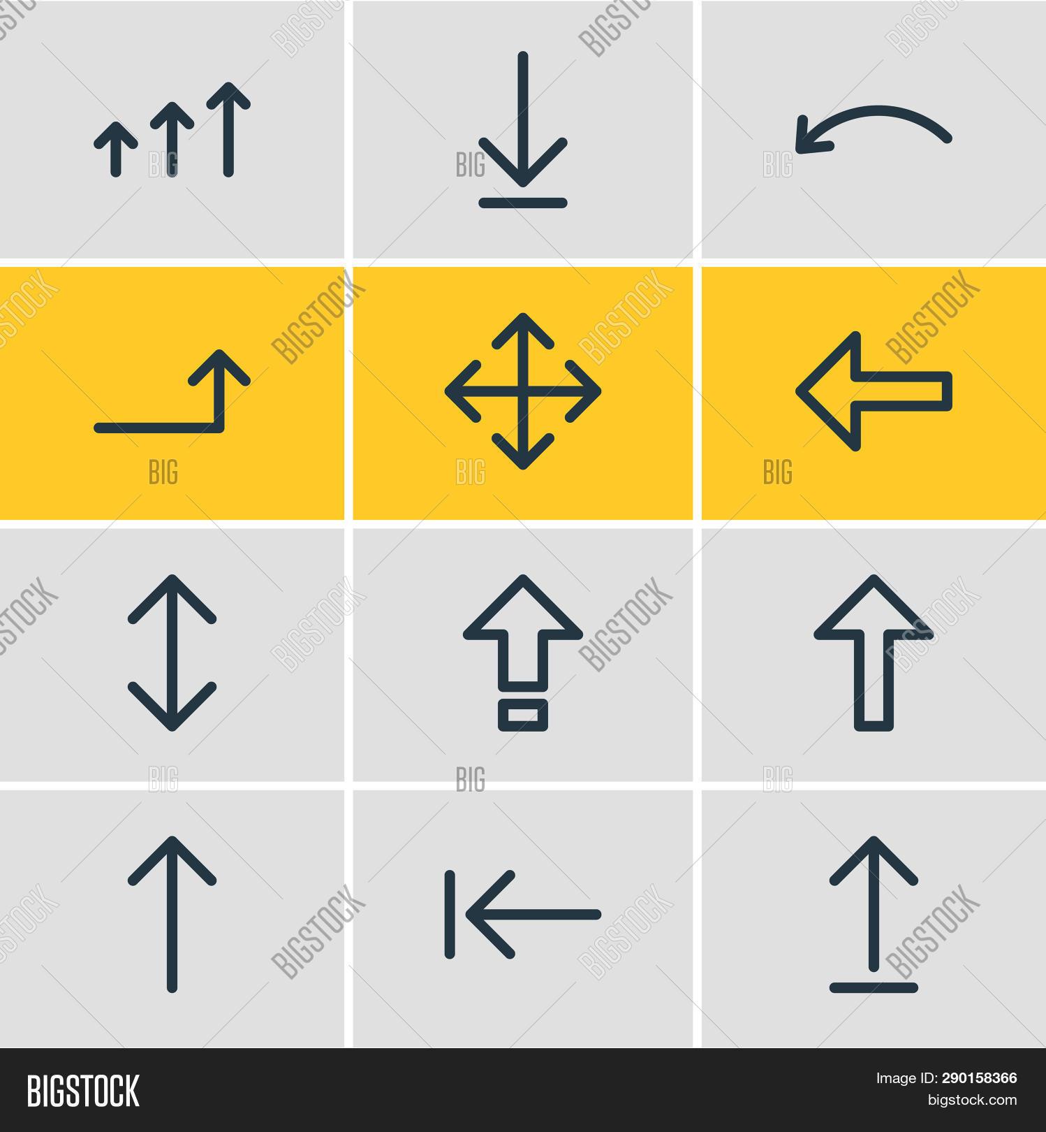 Illustration 12 Arrows Image & Photo (Free Trial) | Bigstock