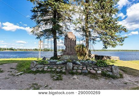 Shlisselburg, Russia - August 8, 2018: Tomb Of Alexander Ulyanov And Others Revolutionaries Near The