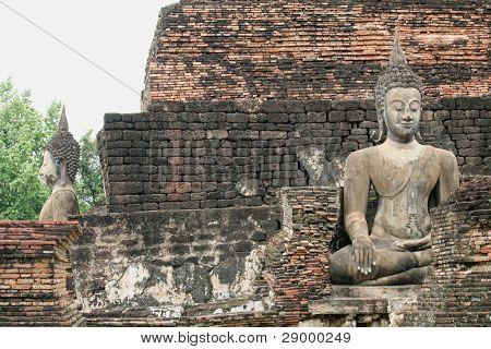 Buddhist statues in Sukhothai