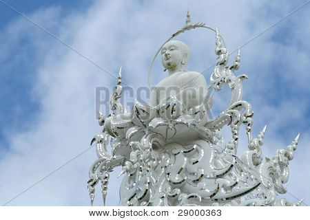 Statue at the White Temple in Chiang Rai