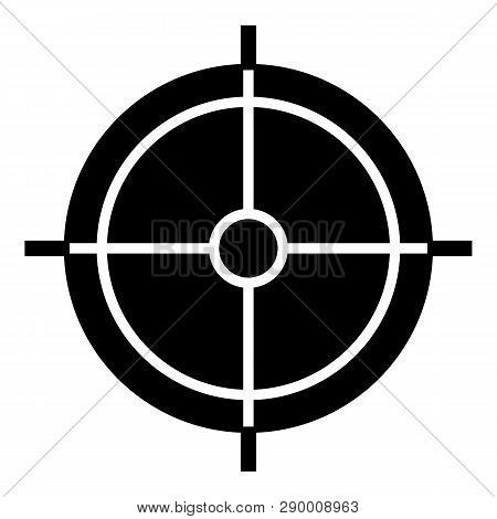 Periscope Crosshair Icon. Simple Illustration Of Periscope Crosshair Vector Icon For Web Design Isol