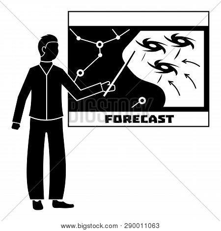 Forecast Hurricane Icon. Simple Illustration Of Forecast Hurricane Vector Icon For Web Design Isolat