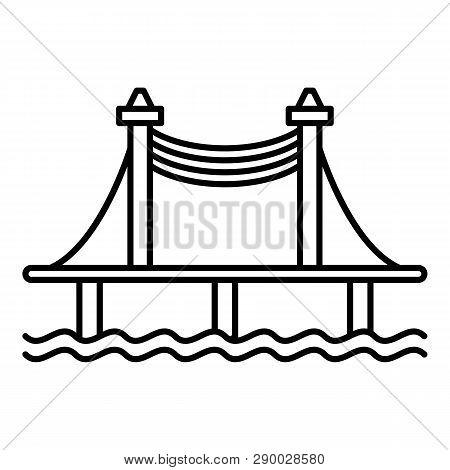 Autobahn Bridge Icon. Outline Autobahn Bridge Vector Icon For Web Design Isolated On White Backgroun