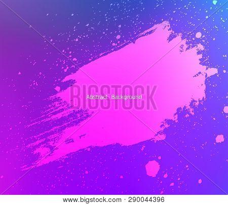 Brush Stroke And Texture. Banner For Design.vector Illustration