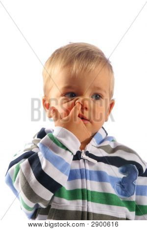Child With Finger In His Nose