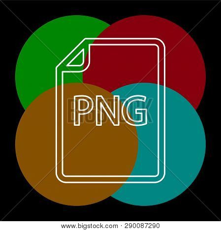 download PNG document icon - vector file format symbol. Thin line pictogram - outline editable stroke poster