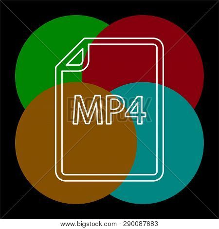 Download Mp4 Document Icon - Vector File Format Symbol. Thin Line Pictogram - Outline Editable Strok