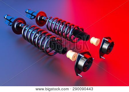 Passenger Car Shock Absorber With Dust Cap, Buffer Mounting And Strut Mounting - New Auto Parts, Spa