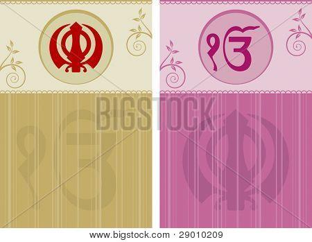 Ek Onkar, Khanda the holy motif poster