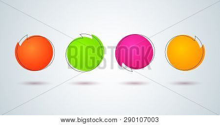 Promo Tags Price Label Sale Bright Colored Round Banner Sticker In Frame Set Design Element For Adve