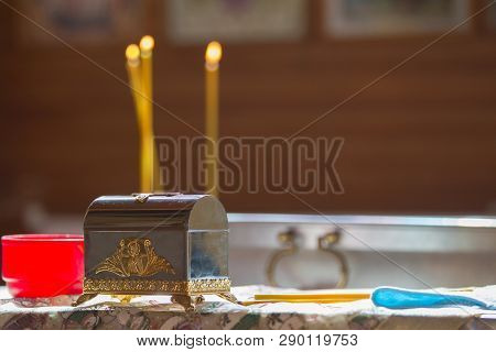 Church Candles, Accessories For Baptism. Church Attributes