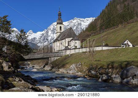 Church Sankt Sebastian In Ramsau, Bavaria