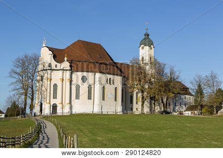 Pilgrimage Church Wieskirche In Pfaffenwinkel In Bavaria