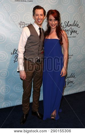 NEW YORK-APR 14: Actors Josh Grisetti (L) and Sierra Boggess attend the Broadway opening night for 'It Shoulda Been You' at The Edison Ballroom on April 14, 2015 in New York City.