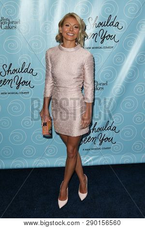NEW YORK-APR 14: TV personality Kelly Ripa attends the Broadway opening night for 'It Shoulda Been You' at Brooks Atkinson Theatre on April 14, 2015 in New York City.
