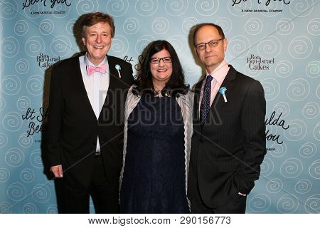 NEW YORK-APR 14: (L-R) Brian Hargrove, Barbara Anselmi and David Hyde Pierce attend the Broadway opening night for 'It Shoulda Been You' at The Edison Ballroom on April 14, 2015 in New York City.