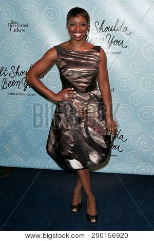 NEW YORK-APR 14: Actress Montego Glover attends the Broadway opening night after party for 'It Shoulda Been You' at The Edison Ballroom on April 14, 2015 in New York City.