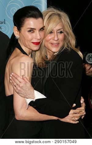 NEW YORK-APR 14: Actors Julianna Margulies (L) and Juldith Light attend the Broadway opening night for 'It Shoulda Been You' at The Edison Ballroom on April 14, 2015 in New York City.