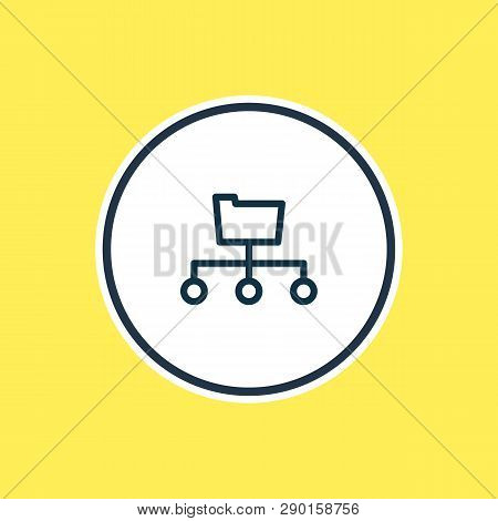Vector Illustration Of Directory Submission Icon Line. Beautiful Marketing Element Also Can Be Used