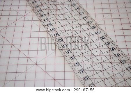 A Clear Imperial Ruler On A Clear Grid