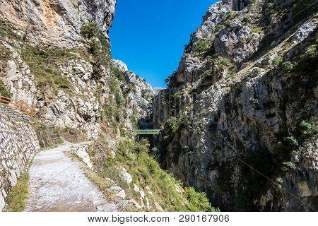 The Cares Trail, Garganta Del Cares, In The Picos De Europa Mountains, Spain