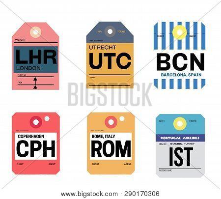 Utrecht Barcelona London Copenhagen Rome Istanbul Airline Tag