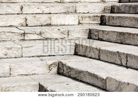 Abstract Stairs In Black And White, Abstract Steps, Stairs In The City, Granite Stairs, Wide Stone S