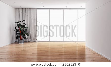 Large Luxury Modern Bright Interiors Room Illustration 3D Rendering
