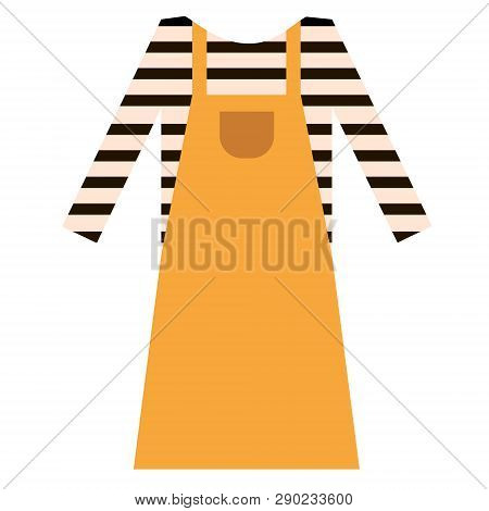 Pinafore Dress Flat Illustration. Home, Travel And Lifestyle Series.