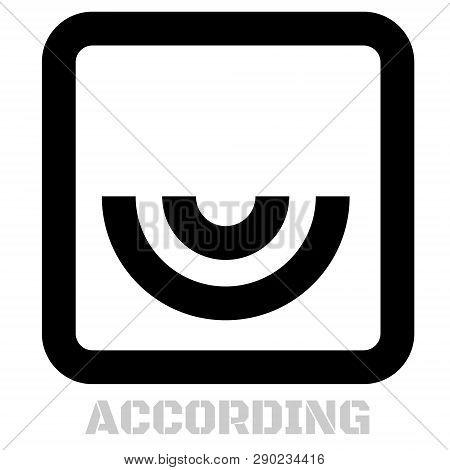 According Concept Icon On White Flat Illustration.