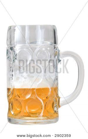 A Half Full Beer Glass (Mass)