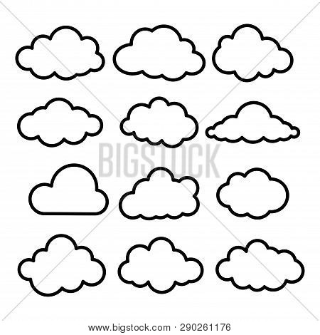 Cloud Set. Cloud Icon. Cloud Icon Art. Cloud Icon Picture. Cloud Icon Image. Cloud Icon Logo. Cloud