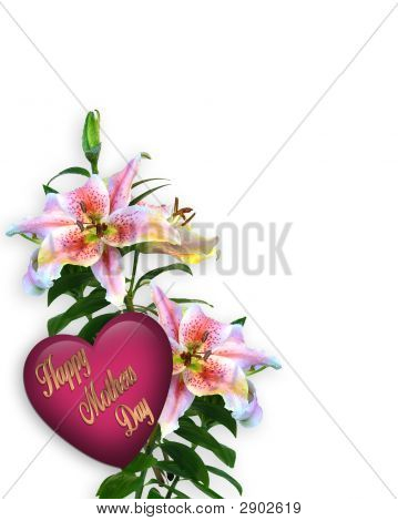 Mothers Day Lilies With Heart