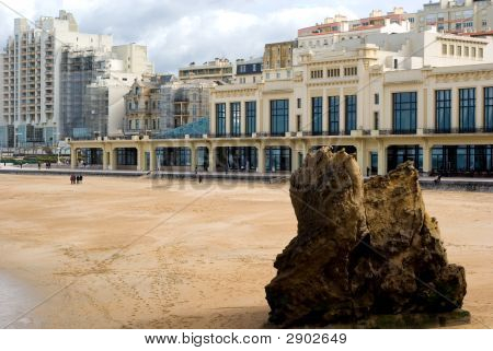 Beach View At Biarritz,