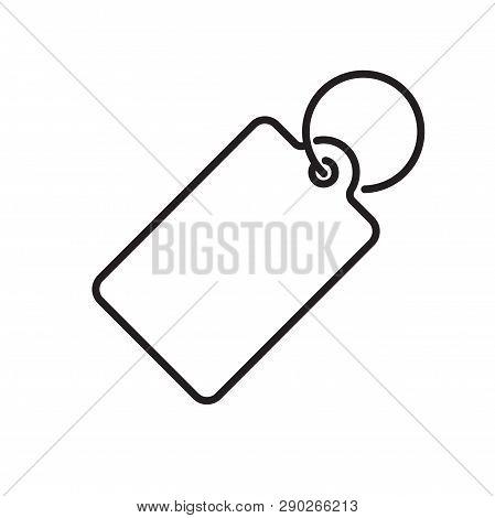 Price Tag Vector Icon Label. Line Pricetag Symbol, Luggage Tag