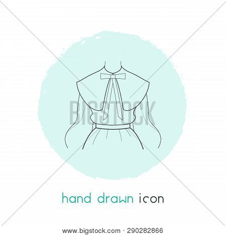 Puritan Collar Icon Line Element. Vector Illustration Of Puritan Collar Icon Line Isolated On Clean