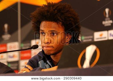 Uefa Europa League. Dynamo Kyiv V Chelsea. Press-conference