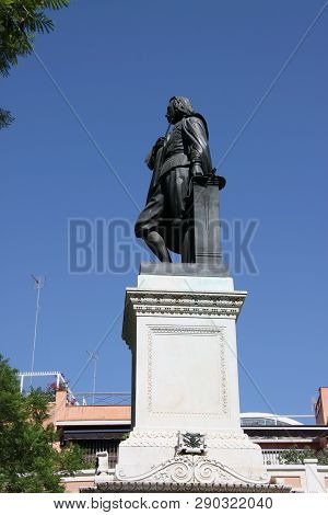 Seville, Spain - July 14, 2011: Monument To The Spanish Painter Bartolome Esteban Murillo