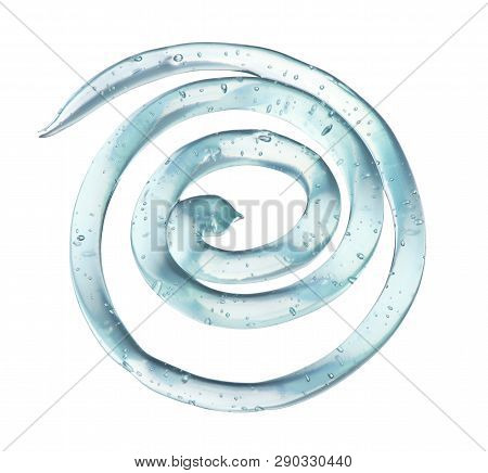 Transparent Gel In The Form Of A Spiral Isolated On White Background