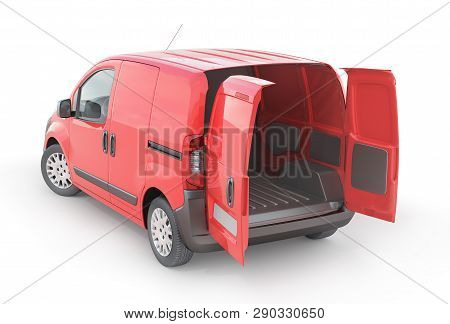 Transport For Delivery Isolated On A White Background. 3D Illustration