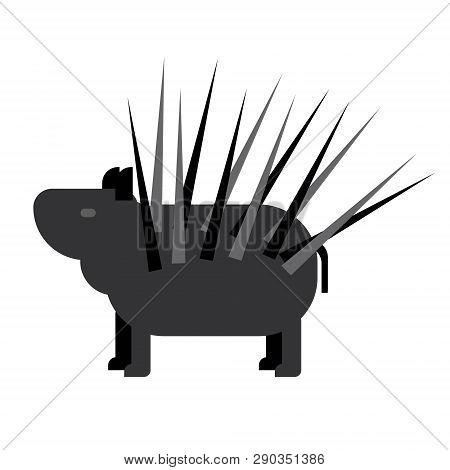 Porcupine Flat Illustration Wild Life Plants And Animals Series