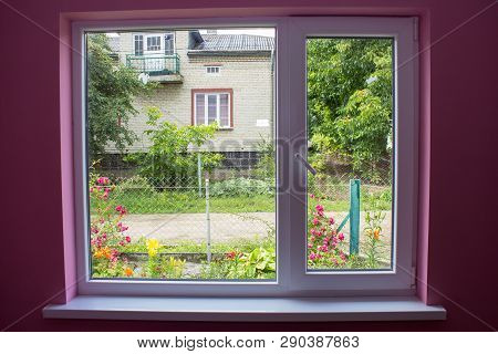 Summer Outside The Window, Grow Flowers Outside The Window In The Rural Settlement