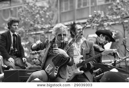 LONDON - MAY 15: Rockabilly band
