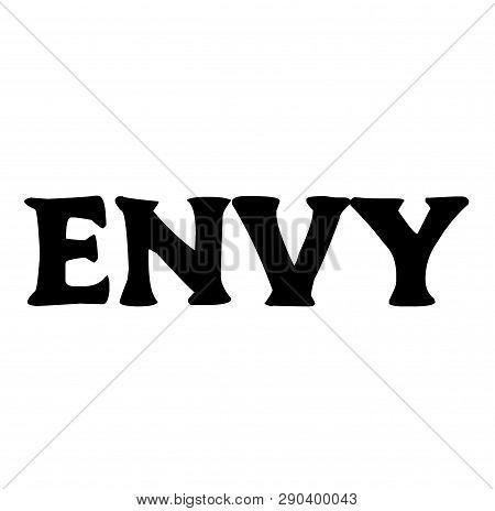 Envy Stamp On White Background. Sign, Label Sticker