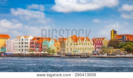 Willemstad, Curacao - April 02, 2014: View Over Willemstad. Curacao Is The Main Island Of The Nether