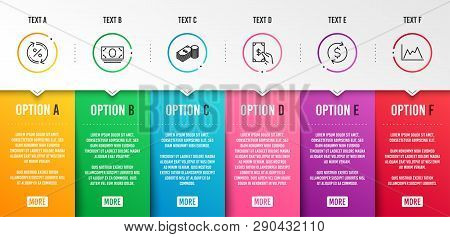 Receive Money, Savings And Cash Money Icons Simple Set. Loan Percent, Dollar Exchange And Diagram Si