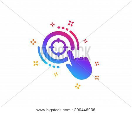 Seo Target Icon. Search Engine Optimization Sign. Click Aim Symbol. Dynamic Shapes. Gradient Design