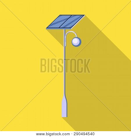 Vector Illustration Of Lamppost And Solar Symbol. Collection Of Lamppost And Alternative Stock Symbo